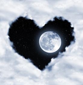 moon in cloud heart