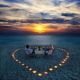 Couple Dining on a Beach